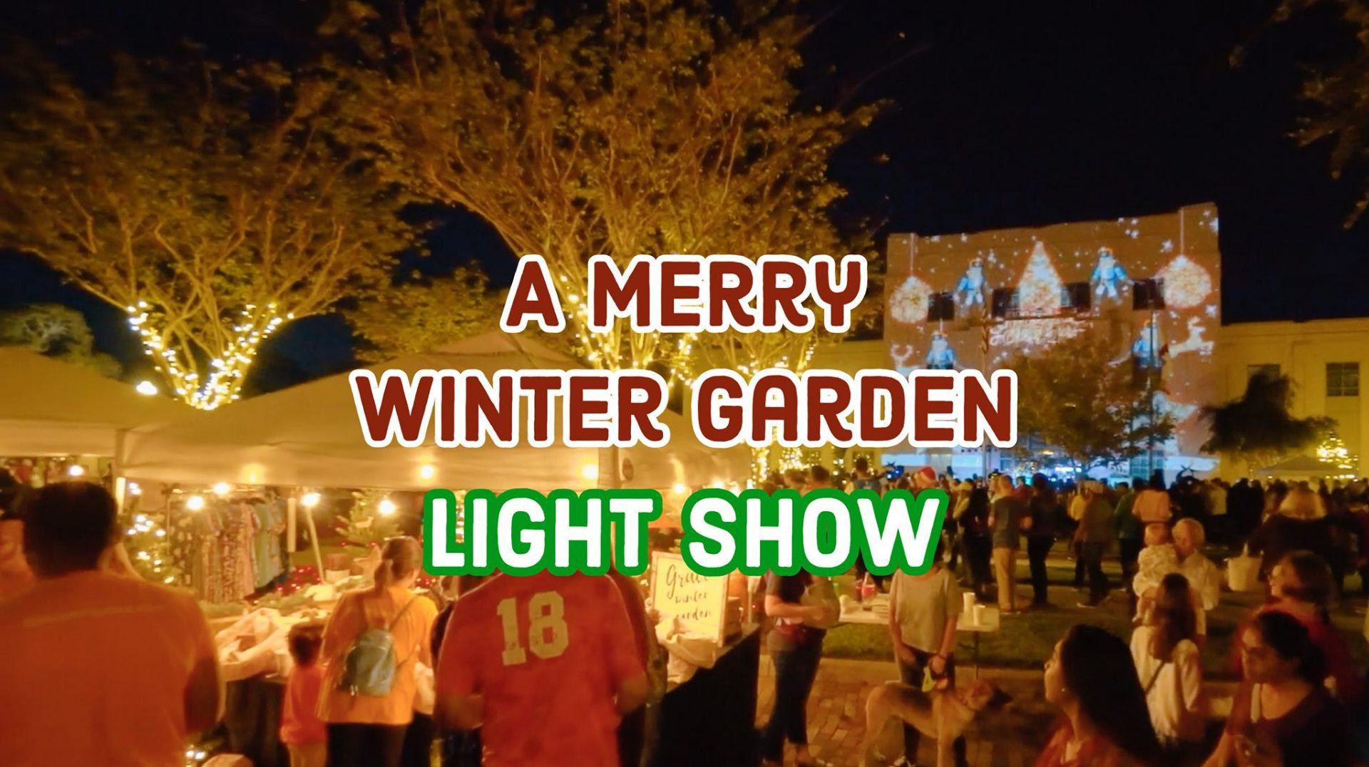 merry winter garden light show