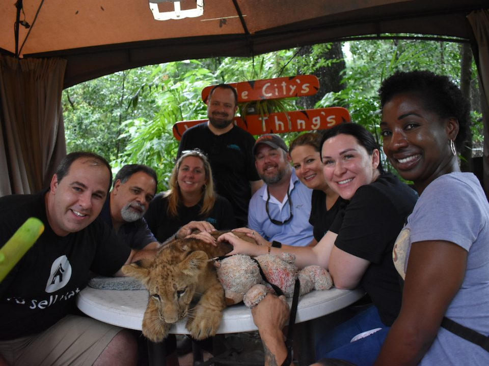 erica Diaz team outing wild things zoo lion cub