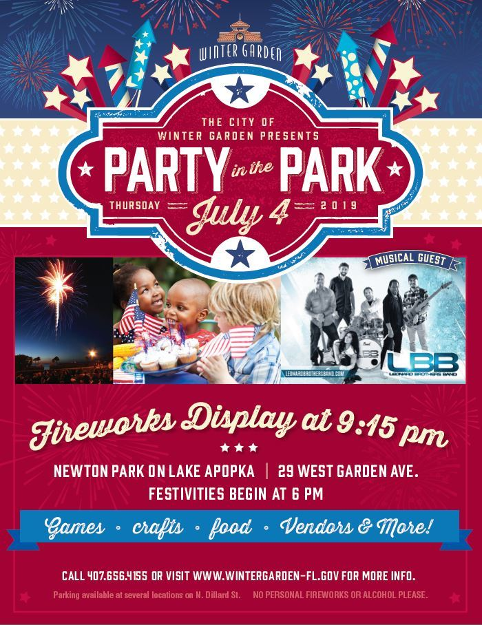 winter garden party in the park