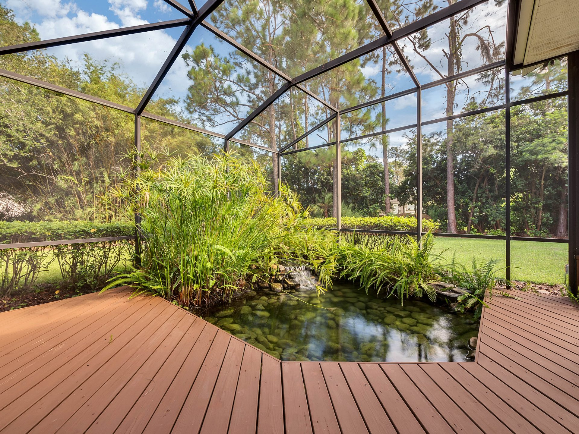 Updated Home For Sale Complete With A Koi Fish Pond