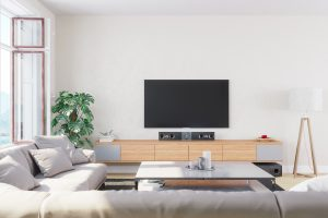 Decluttered living spaces are depersonalized