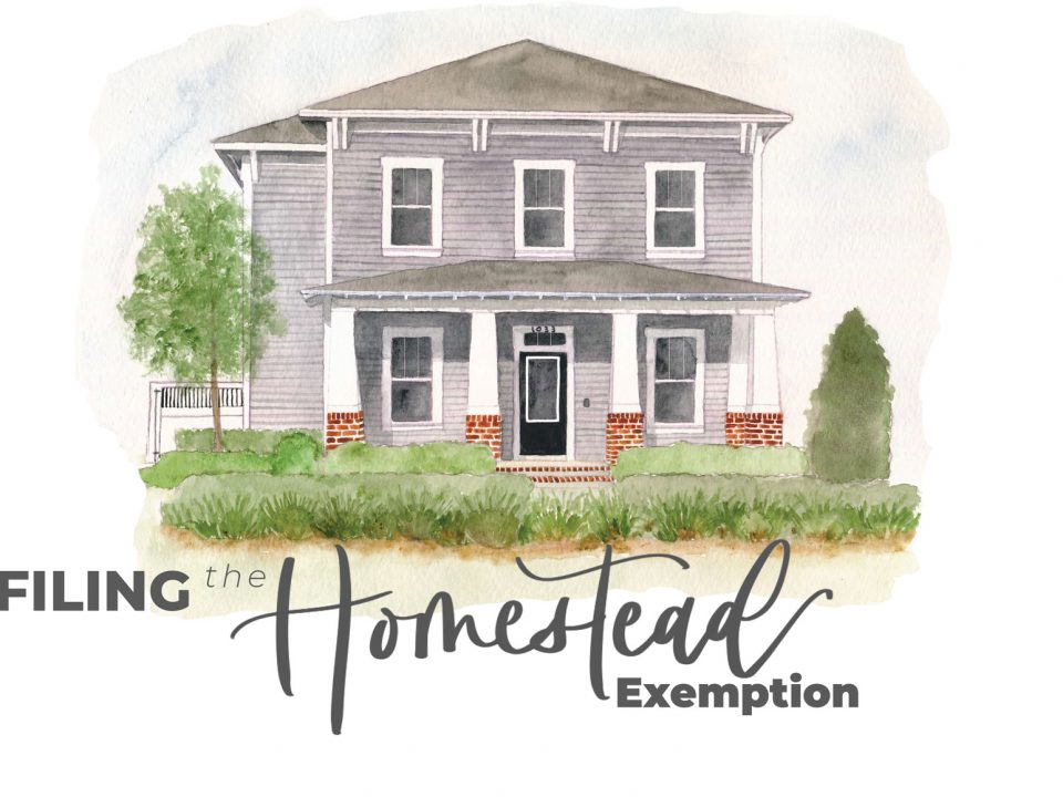 Filing the Homestead Exemption